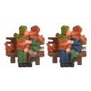 Coppia che bacia in miniatura su Poly-Colorful 2-f
