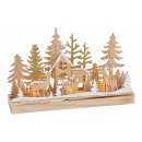 Scena invernale Foresta invernale con illuminazion