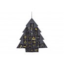 wholesale Home & Living: Advent Calendar Christmas Tree of Textile Black (B