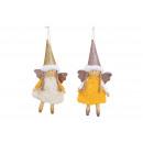 Appendiabiti Angel in tessuto beige, giallo brilla