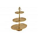 Supporto a 5 livelli in alluminio ovale in oro a 3
