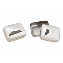 wholesale Jewelry Storage: Tin Home Metal Silver (B / H / D) 11x7x9cm