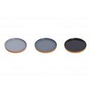 grossiste Ustensiles de Cuisine: Plateau en métal noir, gris 3- fois assorti .
