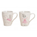 wholesale Household & Kitchen: Mug bird, fairy porcelain decor White 2-fold