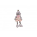 wholesale Dolls &Plush: Duck with Best Friend pendant made of plush gray,