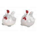 Kurczak Ceramiczny Biały, Szary 2- razy mieszany ,