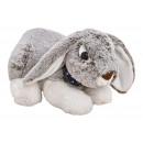 Coniglio giacente in peluche grigio (L / A / P) 29