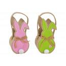 wholesale Organisers & Storage: Felt basket bunny with handle made of felt beige (