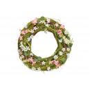 wholesale Decoration: Wreath flower decor of rattan / wood color (B / H