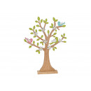 Display Wooden tree colored (B / H / D) 34x45x6cm