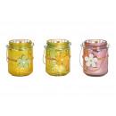 wholesale Wind Lights & Lanterns: Lantern with flower pendant Glass colorful ...