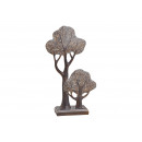 wholesale Stockings & Socks: Trees on pedestal big u. small wood look made of p