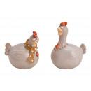 Pollo in ceramica ceramica 2- volte assortito , (L