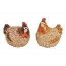 Pollo Marrone In Ceramica 2- volte assortito , (W