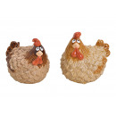 Pollo Marrone In Ceramica 2- volte assortito , (L