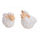 Pecore Bianche In Ceramica 2- volte assortito , (L