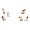 Appendini animali in ceramica bianca 6 assortiti