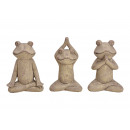 Yoga frog clay brown 3- times assorted , (B / H /