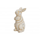 wholesale Gifts & Stationery: Rabbit with Egg white clay (B / H / D) 10x20x9cm