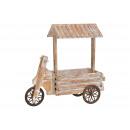 Carrello con tetto in legno marrone (B / H / D) 16