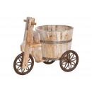 Carrello con fusto in legno marrone (L / H / P) 20