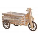 Carrello in legno marrone (L / A / P) 15x24x36 cm