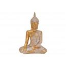 Buddha realizzato in poli oro (B / H / D) 30x43x19