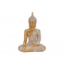 Buddha realizzato in poli oro (B / H / D) 22x32x14