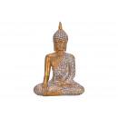 Buddha realizzato in poli oro (B / H / D) 17x24x11