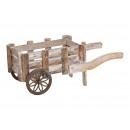 Carrello in legno marrone (B / H / D) 17x17x42cm