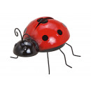 hurtownia Dekoracje: Biedronka wykonana z metalowej czerwieni, czerni (