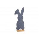 Kanin på trästativ av filtgrå (B / H / D) 18x50x6