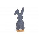 Kanin på träställ av filtgrå (B / H / D) 14x41x5