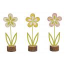 Espositore Fiore in metallo su un tronco rosa / ro