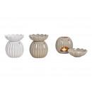 Lampada profumata forma sferica in ceramica bianca