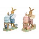 Kanin med påskägg i flerfärgad, glitter 2-faldig s