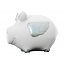wholesale Gifts & Stationery: Savingsbox KCG small pig, angel pig silver, au