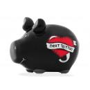 Großhandel Geschenkartikel & Papeterie: Spardose KCG Kleinschwein, Next Tattoo, aus Kerami