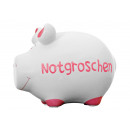 wholesale Gifts & Stationery: Savingsbox KCG small pig, nest egg, made of Kerami