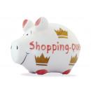 Savingsbox KCG Kleinschwein, Shopping Queen, aus K