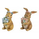 wholesale Home & Living: Bunny made of Poly Brown 2- times assorted , (B /