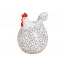 Ceramica ceramica bianca (B / H / D) 13x17x13cm