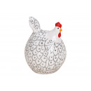 Chicken ceramic white (B / H / D) 10x14x10cm