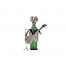 Portabottiglie per chitarrista in metallo