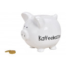 wholesale Gifts & Stationery: Piggy bank coffee cup made of ceramic white (W / H