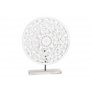 Display Circle floral pattern on MDF stand