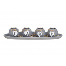 wholesale Home & Living: Tealight holder 4 on tray with stones HOME au