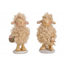 wholesale Dolls &Plush: Poly sheep, brown synthetic fiber 2- times assorte