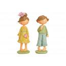Figura ragazza / ragazzo in poli multicolore 2- vo