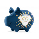 Savingsbox KCG Kleinschwein, Super Dad, made of ce